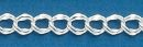 American 090 Sterling Silver Charm Bracelet Double Link Chain 7.5 Inch Length 7mm Width