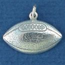 Football Large Sterling Silver Charm Pendant