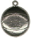 Basketball Sports Sterling Silver Charm Pendant