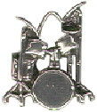 Music: Drum Set Sterling Silver Charm Pendant