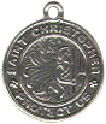 Religious Christian Saint Christopher Round Medal Sterling Silver Charm Pendant