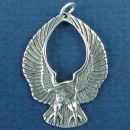 Eagle with Up Swept Wings Sterling Silver Charm Pendant