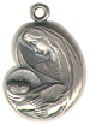 Religious Christian Virgin Mary with Child Medal Sterling Silver Charm Pendant