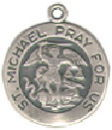 Religious Christian Saint Michael Medal Sterling Silver Charm Pendant