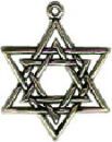 Religious Jewish Star of David Sterling Silver Charm Pendant