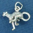 Cheetah of Southwestern Asia and Africa 3D Sterling Silver Charm Pendant