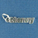 Military Navy Sterling Silver Charm Word Phase Pendant