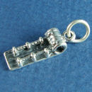 Snow Sled used in Winter Sports Sterling Silver Charm for Bracelet or Necklace