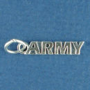Military Army Sterling Silver Charm Word Phase Pendant