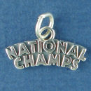 National Champs Charm Sterling Silver Pendant