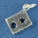 Scrapbook Hobby Stencil Sterling Silver Charm Pendant