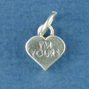 Heart Conversation, I'm Yours Word Phrase Sterling Silver Charm Pendant