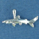 Shark Small Sterling Silver Charm 3D Pendant