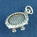 Kids Trampoline 3D for Out Door Sports Sterling Silver Charm Pendant