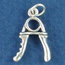 Exercise Equipment Hand Grips Sterling Silver Charm Pendant
