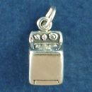 Sterling Silver Washing Machine Charm 3D