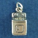 Household Clothes Dryer Charm 3D in Sterling Silver