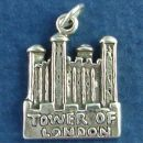 England Travel Destination Tower of London Sterling Silver Charm Pendant