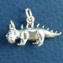 Legendary Chupacabra 3D Sterling Silver Charm Pendant