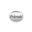 Inspiration Message Word Beads: Friends Sterling Silver Charm