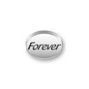 Inspiration Message Word Beads: Forever Sterling Silver Charm