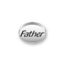 Inspiration Message Word Beads: Father Sterling Silver Charm