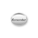 Inspiration Message Word Beads: Remember Sterling Silver Charm