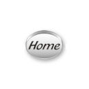 Inspiration Message Word Beads: Home Sterling Silver Charm