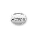 Inspiration Message Word Beads: Achieve Sterling Silver Charm