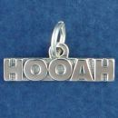 Army Cheer HOOAH Military Charm Sterling Silver Pendant