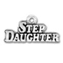 Family Step Daughter Charm Sterling Silver