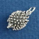 Hedgehog Small Sterling Silver Charm Pendant