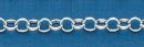 120 Rolo Chain Sterling Silver Bracelet 7.5 Inch 5mm Diameter