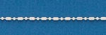 150 1+1 Bar and Ball Bead Chain 16 Inch Sterling Silver Necklace