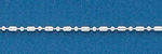 150 1+1 Bar and Ball Bead Chain 18 Inch Sterling Silver Necklace