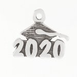 2020 Graduation Cap Charm Sterling Silver