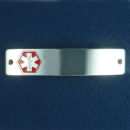 Medical Identification Id Bracelet Sterling Silver Tag