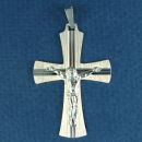 Sterling Silver Medium Crucifix Christian Cross Pendant