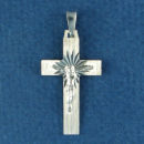 Sterling Silver Medium Christian Cross Pendant