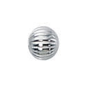 4mm Sterling Silver Corrugated Round Loose Bead with 1mm Hole Sold in Packages of 10 Pieces