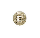 4mm Corrugated Round 14K Gold Filled Loose Bead with 1mm Hole Sold in Packages of 10 Pieces