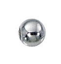 5mm Smooth Round Seamless Sterling Silver Bead with 1.5mm Hole Sold in Packages of 100 Pieces