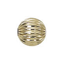 6mm Gold Filled Corrugated Loose Beads Sold in Packages of 10 Pieces