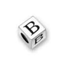 Sterling Silver Alphabet Beads B 7mm Letter Beads