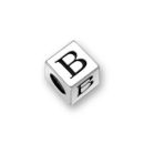 Sterling Silver Alphabet Beads B 5.5mm Letter Beads