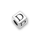 Sterling Silver Alphabet Beads D 5.5mm Letter Beads