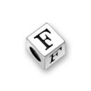 Sterling Silver Alphabet Beads F 7mm Letter Beads