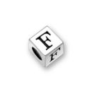 Sterling Silver Alphabet Beads F 5.5mm Letter Beads
