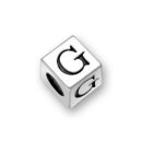 Sterling Silver Alphabet Beads G 7mm Letter Beads