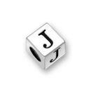 Sterling Silver Alphabet Beads J 7mm Letter Beads